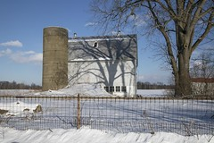 Old Barn  the Front View (a56jewell) Tags: a56jewell barn jan winter ontario shadow tree outdoors