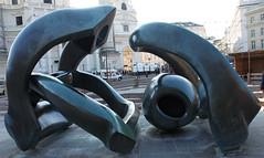 Vienna, Austria (rick ligthelm) Tags: vienna wien wenen austria österreich sculpture henrymoore hillarches karlsplatz modernsculpture abstractsculpture modern abstract bronze