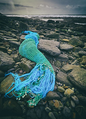 Sleeping Mermaid (Maggie's Camera) Tags: sleepingmermaid newgale beach pembrokeshire rocks seaside mythicalcreature beauty bluegreen fantasy wales february2019
