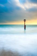 (James Whitlock Photography) Tags: uk england swanage sea coast sun sunrise post wave sand beach groyne sky cloud long exposure nikon d810 lee filters gitzo