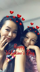 Happy Valentine's Day (ghostgirl_Annver) Tags: asia asian girls annver mom daughter sister family valentines day teen