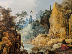 """River Landscape with Elijan Fed by the Raven"" (early 17th c.), Joos de Momper the Younger (Joey Hinton) Tags: phoenix art museum pixel2 google android smartphone cellphone cameraphone phone arizona"