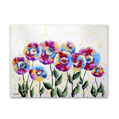 Bohemian Flower Painting, Original Floral Painting, Colorful Wall Decor (hjmartgallery) Tags: flowerpainting acrylicpainting acryliconcanvas etsy wallart wallartdecor wallhanging floralpainting bohemian colorful whimsicalart whimsicalwhimsy modernart contemporary originalart originalpainting