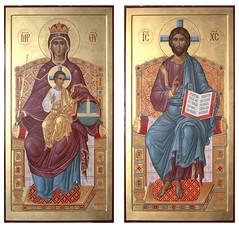 Спаситель и Державная икона Божией Матери