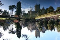 reflected and real - explored (quietpurplehaze07) Tags: ღღentreamigosღღproyecto365días wellscathedral bishopspalace garden reflections reversed sundaylights inexplore explored