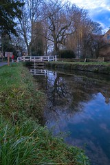 The slaughters (Mallybee) Tags: fuji fujifilm xt3 1855mm f284 fujinon mallybee cotswolds slaughters landscape river bridge sky blue saturated apsc xtrans xmount reflections