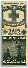 Matchbook, Red Cross, WWII (photolibrarian) Tags: matchbook redcross wwii