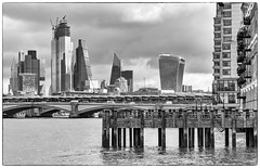 DSC00970-Edit (marksmith0701) Tags: london river thames oxo tower wharf bnw blackandwhite monochrome city cityscape bridge walkietalkie cheesegrater building block jetty balcony blackfriars railway railwaybridge