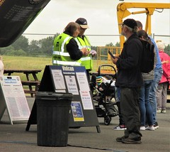 Selling tickets for Vulcan XL426 cockpit tours at VRT HQ, Southend Airport 17.06.18 (Trevor Bruford) Tags: vrt vulcan restoration trust xl426 southend airport avro nuclear bomber cold war plane jet aircraft airplane aviation raf tin triangle delta lady royal air force volunteers cockpit tour
