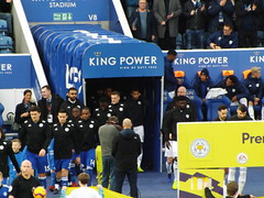 Teams come out (lcfcian1) Tags: leicester city cardiff lcfc ccfc king power stadium epl bpl football sport footy england leicestercity cardiffcity premierleague kingpowerstadium