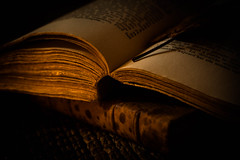 Old books (Valérie C) Tags: book old candlelight still stilllife naturemorte