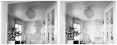 ghosts of Christmas past (l'imagerie poétique) Tags: largeformatphotography speedgraphic doubleexposure expiredfilm polaroid ishootfilm ghostsofchristmaspast annesilver bokeh selfportrait autoportrait fantômes home chezmoi