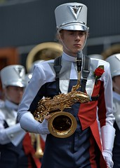 Saxophone  Man (Scott 97006) Tags: guy male uniform musician saxophone hat parade march sax