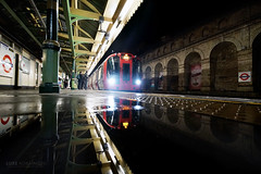 Night train reflections - London (Luke Agbaimoni (last rounds)) Tags: london londonunderground londontube transportforlondon train trains transport reflect reflection
