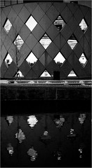 "This Place (Diziet ""I Like Toast"") Tags: bw crosshatch diagonals modernarchitecture amsterdamuniversiteit"