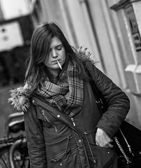 Fag break...and time to ponder. (captures.in.time) Tags: smoking girl street thoughts thoughtful sad lonely streetphotography edinburgh edinburghstreetphotography candidedinburgh peopleofedinburgh humans peopleoftheworld humansoftheworld scotland candidphotography