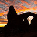 Turret Arch Sunset Silhouette
