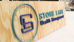 Wooden Logo Sign With 3D Letters (frontsignsllc) Tags: frontsigns woodensigns logosign business businesssign la california