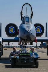 2017 A-10 Heritage Flight Team (Norman Graf) Tags: a10 a10c airplane aircraft fairchildrepublic airshow supertug 2017californiacapitalairshow 820648 billnewman cas closeairsupport jet plane thunderboltii usaf warthog