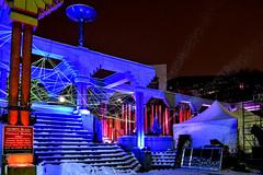 Glow Festival (Jane Olsen) Tags: lightinstallations publicart art night city bildings snow winter alberta calgary