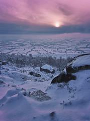 Peak District in the snow (seantindale) Tags: winter snow peakdistrict sky hiking olympus omdem1markii