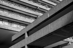 Crossover (James-Palmer) Tags: london england uk urban concrete brutal brutalist modern modernist balcony walkway crossover beams built buildings architect design architecture designers lcc cityoflondon british english tower support columns