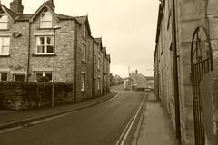 Village centre, Bradwell, Derbyshire (dave_attrill) Tags: villagecentre churchst bradwell derbyshire peakdistrict nationalpark hopevalley village historic street cottages february 2019 winter sepia