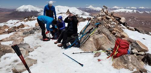 Summit of Cerro Toco (Stratovolcano), 5,604 meters (18,386 ft) above sea level, the Purico Complex, the Atacama desert, Antofagasta, Chile.