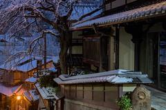 産寧坂3・Sanenzaka (anglo10) Tags: japan 京都府 kyoto 清水 snow 産寧坂 雪 夜景 東山 建築物 architecture nightscape