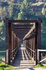 Spain - Cordoba - Montoro - Bridge over Guadalquivir river (Marcial Bernabeu) Tags: wooden bridge puente wood madera marcial bernabeu bernabéu europe europa spain españa andalusia andalucia andalucía cordoba córdoba montoro
