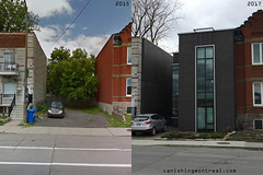 Before/ After: Wellington street (Vanishing Montréal) Tags: history villedemontreal montreal histoire photography art architecture demolition disappearinghistory newconstruction