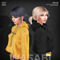 Millie Exclusive Pack for 50L Fridays! (Wasabi // Hair Store) Tags: 3d hair secondlife wasabipills catwa glamaffair aviglam league maitreya randommatter erde pinkfuel kibitz rebelgal amala pseudo
