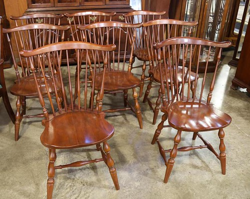 PA House 8 Cherry Windsor Style Chairs ($560.00)