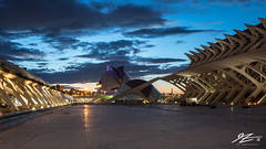 Left (TVZ Photography) Tags: cityofartsandsciences ciudaddelasartesylasciencias valencia spain europe city cityscape architecture night evening longexposure lowlight sonya7riii zeiss loxia 21mm