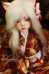 Kitsune (Puppet Tales Dolls) Tags: ooak ooakdoll doll repaint dollrepaint custom customization bjd balljointeddoll hugh dollchateau msd kitsune fox bjdears
