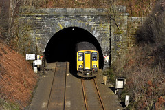 Tunnel 61 (whosoever2) Tags: uk united kingdom gb great britain england nikon d7100 train railway railroad march 2019 cowburn tunnel northern class150 150204 sheffield manchester dmu hopevalley derbyshire