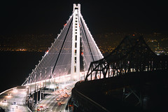 It's All Over and I'm Standing Pretty (Thomas Hawk) Tags: america bayarea baybridge california eastbay northerncalifornia oakland sf sfbayarea sanfrancisco usa unitedstates unitedstatesofamerica westcoast bridge night norcal fav10 fav25 fav50 fav100