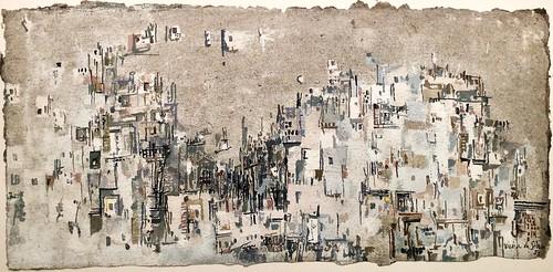 São Jorge Castle[Lisbon] (1957) - Vieira da Silva (1908-1992)