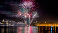 Manly New Year's Eve Fireworks (6) (geemuses) Tags: newyearseve2018 manly nsw australia fireworks color colour nightlight nightphotography urban suburban citylights water reflections