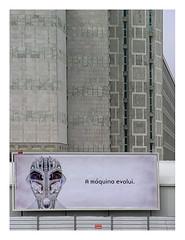 A cyborg at  Lisbon's brutalist prison (AurelioZen) Tags: europe portugal lisboa sãosebastião carbilboard concrete brutalism estabelecimentoprisionaldelisboa epl prison