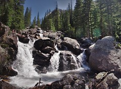 Some People Up There (michael.veltman) Tags: cascade falls rmnp rocky mountain national park backpacking loop trail