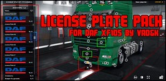 Preview License Plate Pack (Sergey Donovan) Tags: truck eurotrucksimulator2 mod download daf xf105