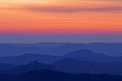 Vosges du Nord (Michal Jeska) Tags: vosgesdunord vogesen nordvogesen grandwintersberg sunset outdoor outside france alsace canon eosm canoneosm canonef400mmf56lusm sky clouds elsass niederbronnlesbains