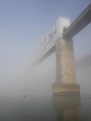 Ethereal Bridge (clivepsmithmarch1960) Tags: cornwall tamar royalalbertbridge mist fog atmospheric devon plymouth