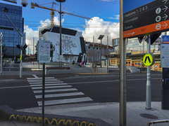 Dandenong, Melbourne, Victoria, Australia. 2015-09-24 16:09:41 (s2art) Tags: dandenong victoria australia au flaneur walkins walking psychogeography auspcataggedpc3175 pc3175 danednongpc3175 ptv station udrban urban topographics newtopographics sigsn signs pedestriancrossings platforms123 noskateboarding noalcohol nobikeriding norollerblading crane construction building pedestriancrossing corporateart corporatemural zebracrossing neodocumentary iphone5 information tickets busess buses art