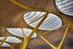 Terminal 4 of Barajas Airport (RobertLx) Tags: skylight architecture building terminal city airport transportation madrid castilla spain españa barajas roof deconstructivism modern contemporary geometric terminal4 64 barajasairport travel
