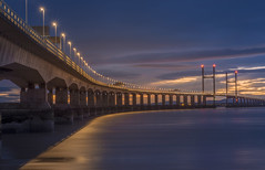 River of Light (Wizard CG) Tags: tags high tide shade 10 welding glass landscape second severn crossing the south west uk bridge bristol channel coast coastal landmark long exposure rocks water river seascape sunset hdr ngc world trekker micro four thirds 43 m43 olympus mzuiko digital ed architecture tourist attraction outdoor sky