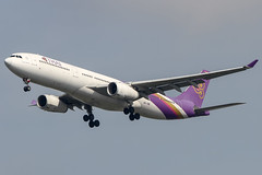 Thai Airways International (maidensphotography) Tags: planespotter airport airways airlines airline aircraft aviation thailand bangkok suvarnabhumi planespotting canon camera dslr flicker flickr landings travel airliners 7d photography