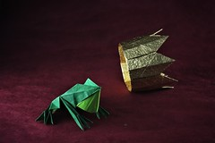 """""""Only then did Harry understand he'd messed up with the wrong witch"""" (pierreyvesgallard) Tags: origami frog jun maekawa crown hyo ahn prince witch fairy tale fairytale paper papercraft folding"""