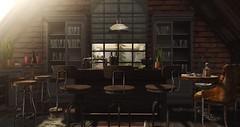 Industrial Loft... (kellytopaz) Tags: man cave virtual bar living loft dad designs skylight brick cabin gallant magazine